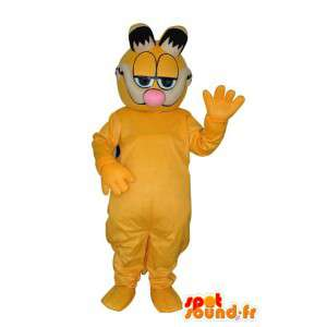 Mascotte de chat en peluche de couleur jaune - Déguisement chat