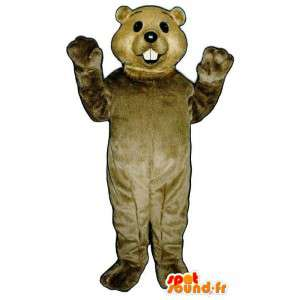 Mouse marrone costume bianco - Mouse Costume