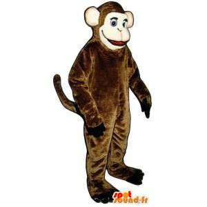 Kostým představuje hnědé opice - hnědá opice maskot