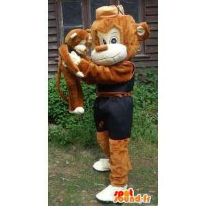 Tegn Mascot gratis frakt marmoset forkledning