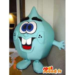 Green monster mascot teardrop - MASFR005535 - Monsters mascots
