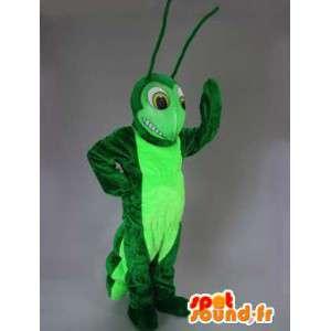 Tvåfärgad grön larvmaskot - Spotsound maskot
