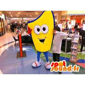 All yellow man mascot - MASFR005546 - Human mascots