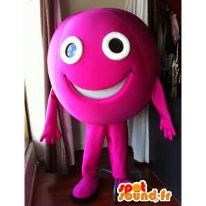 Roze bal mascotte gigantische omvang. roze kleur - MASFR005547 - Niet-ingedeelde Mascottes
