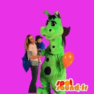 Dinosaurier-Maskottchen grünen Drachen - MASFR005579 - Dragon-Maskottchen