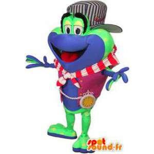 Μασκότ της μόδας βάτραχος. βάτραχος κοστούμι