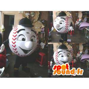 Mascotte de balle de baseball. Costume de baseball