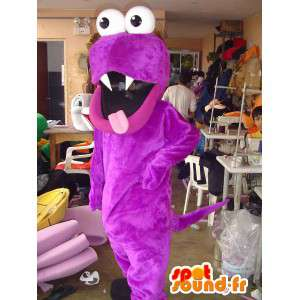 紫のモンスターのマスコット。紫のヘビのコスチューム-MASFR005618-モンスターのマスコット