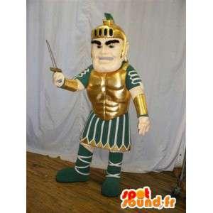 Mascot gladiatore romano in abito tradizionale