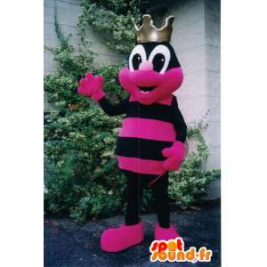 Insect mascot black and pink. Ants colorful costume