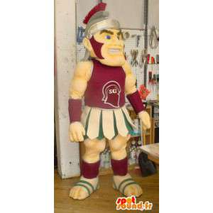 Gladiator mascot in traditional dress