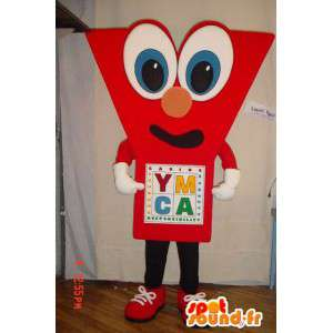 Shaped mascot - Are red. Suit Y