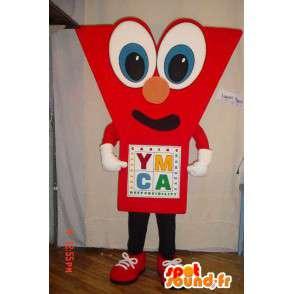 Mascot vormige rode Y. Costume Y - MASFR005633 - Niet-ingedeelde Mascottes