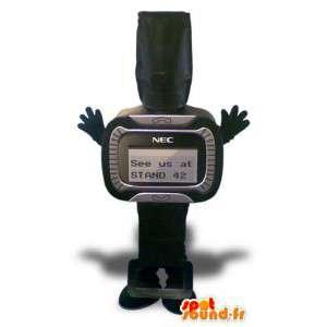 Mascot muotoinen musta äänimerkin. puku hakulaite - MASFR005643 - Mascottes d'objets