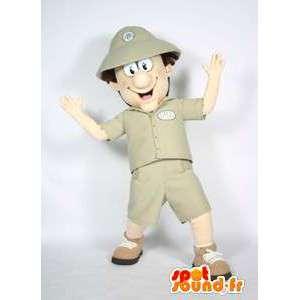 Zookeeper mascotte, ontdekkingsreiziger - MASFR005658 - man Mascottes