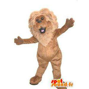 Stuffed lion mascot. Lion costume