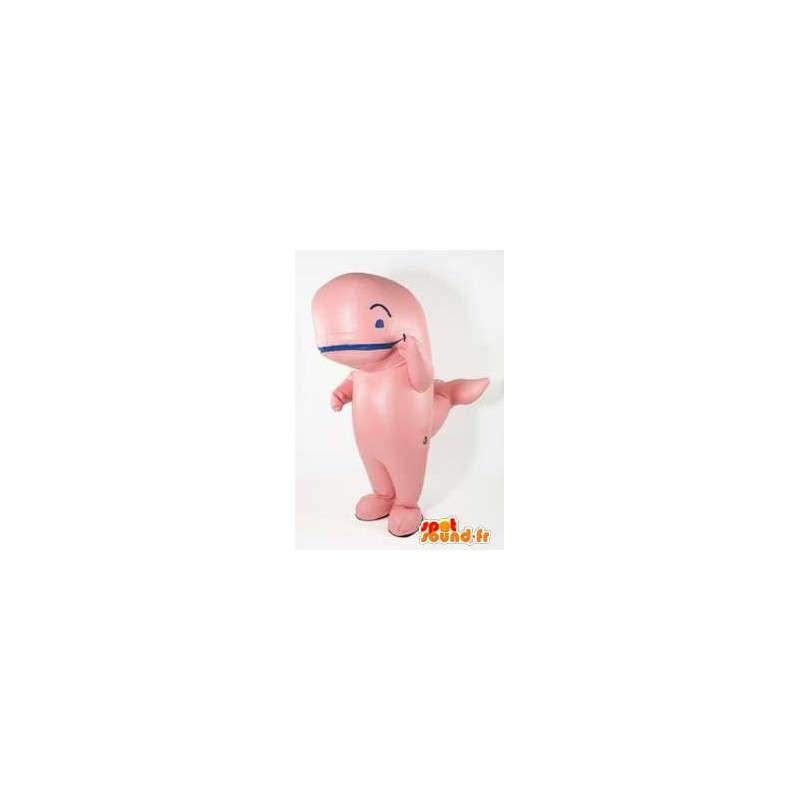 Mascotte de baleine rose. Costume de baleine - MASFR005661 - Mascottes de l'océan