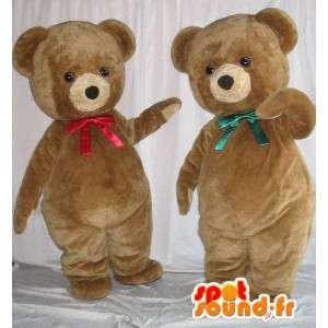 Teddy bear mascots. Pack of 2 mascots - MASFR005669 - Bear mascot