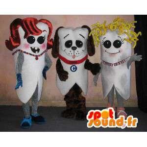 De PET-aangepaste tanden. Set van 3 - MASFR005673 - Niet-ingedeelde Mascottes