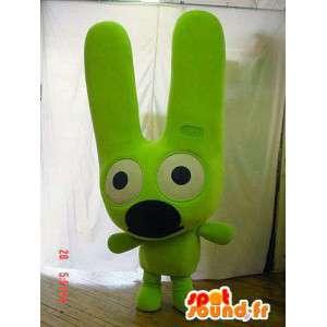 Cane mascotte verde neon. Neon vestito verde - MASFR005697 - Mascotte cane