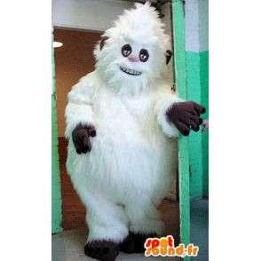 Mascotte de yéti blanc, tout poilu. Costume de yéti - MASFR005708 - Mascottes animaux disparus