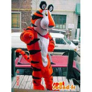 Tiger-Maskottchen orange schwarz und weiß Getreide Frosties - MASFR005712 - Tiger Maskottchen