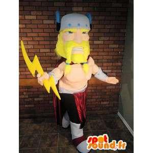 Mascot av Zevs, guden for himmelen. Costume Zeus - MASFR005714 - superhelt maskot
