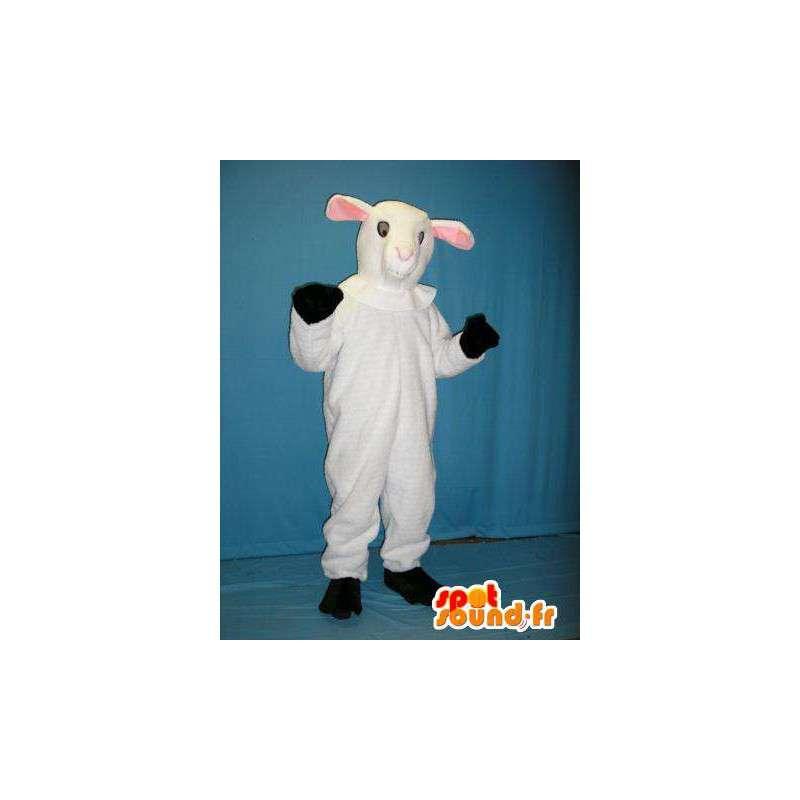 Mascotte de mouton blanc. Costume de mouton blanc - MASFR005723 - Mascottes Mouton