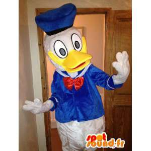Mascotte de Donald Duck, célèbre canard de Disney. Costume de canard