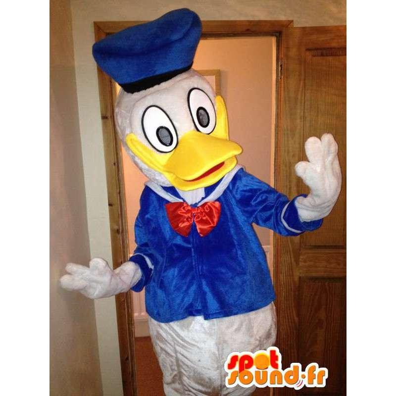 Mascotte de Donald Duck, célèbre canard de Disney. Costume de canard - MASFR005734 - Mascottes Donald Duck