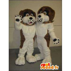Mascot dog brown and white. Pack of 2 - MASFR005749 - Dog mascots