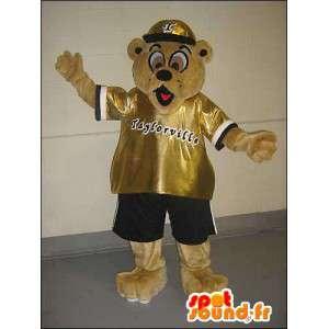 Mascot nalle räppäri hallussa - MASFR005756 - Bear Mascot