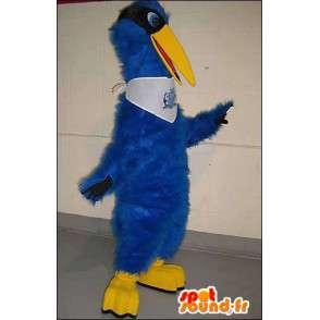 Mascotte d'oiseau bleu et jaune. Costume d'oiseau bleu - MASFR005761 - Mascotte d'oiseaux