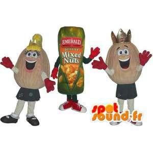 ピーナッツのマスコットとピーナッツのパケット。 3パック-MASFR005766-ファストフードマスコット