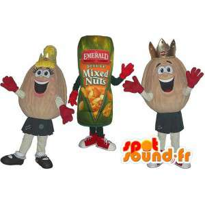 Mascots peanuts and peanut package. Pack of 3 - MASFR005766 - Fast food mascots