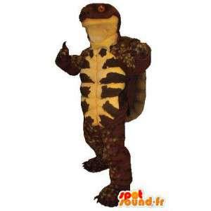 Mascot marrón y de tortuga amarilla.Tortuga de vestuario - MASFR005770 - Tortuga de mascotas