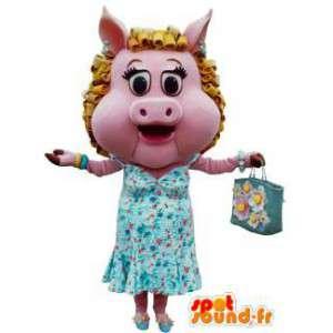 Mascot rosa Schlampe.Kostüm Peggy Schlampe - MASFR005782 - Maskottchen Schwein