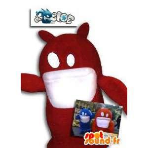 赤いブロブモンスターのマスコット。モンスターコスチューム-MASFR005786-モンスターマスコット