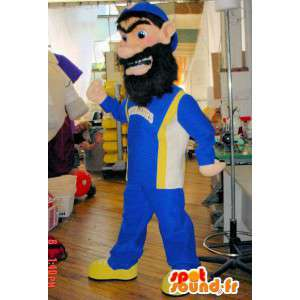 Mascot ogre, a bearded man in a tracksuit. Costume bearded - MASFR005804 - Human mascots