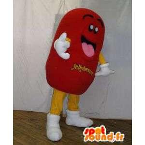 Mascot riesigen roten Süßigkeiten.Sweetie Kostüm - MASFR005809 - Fast-Food-Maskottchen