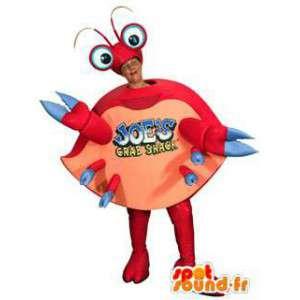 Krabbe maskot rødt og rosa. krabbe Costume