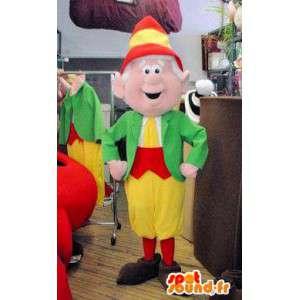 色とりどりのエルフのマスコット。エルフのコスチューム-MASFR005814-クリスマスのマスコット