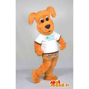 Oranssi Dog Mascot valkoinen paita - MASFR005558 - koira Maskotteja