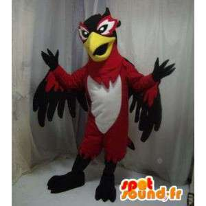 Mascot eagle, white bird, red and black - MASFR005619 - Mascot of birds