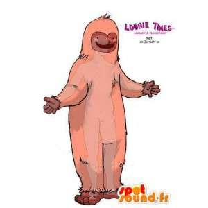 Yeti mascot pink. Costume Yeti