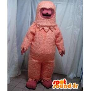 Mascotte de yéti rose. Costume de yéti - MASFR005634 - Mascottes animaux disparus