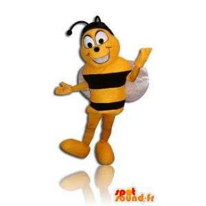 Mascot bee black and yellow. Bee costume - MASFR005682 - Mascots bee