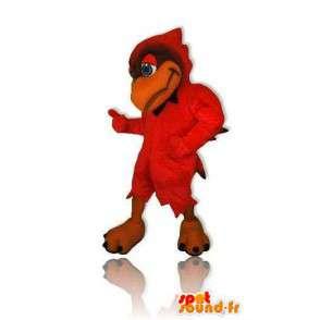 Mascotte rode vogel van gigantische omvang. Bird Costume - MASFR005683 - Mascot vogels