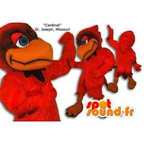 Red bird mascot giant size. Bird costume - MASFR005683 - Mascot of birds