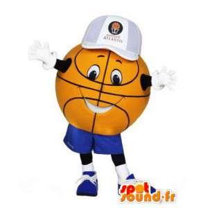 γίγαντας μασκότ μπάσκετ. Στολή μπάσκετ μπάλα